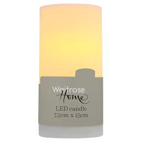 Waitrose Home LED candle 7.5cm x 15cm