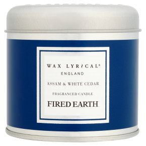 Fired Earth Assam & White Cedar Candle