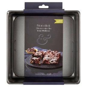 from Waitrose 20cm (8) non-stick loose base square cake tin