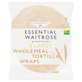 essential Waitrose 8 wholemeal tortilla wraps