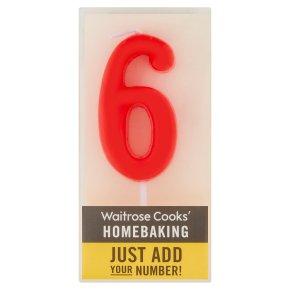 Waitrose Cooks' Homebaking Number 6 Candle