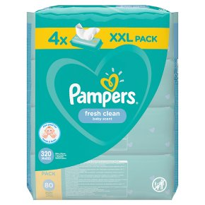 Pampers Fresh Clean Baby Wipes