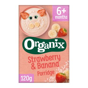 Organix strawberry banana porridge