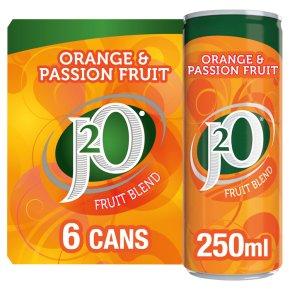 J2O fridge pack orange & passion fruit