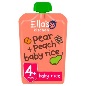 Ella's Kitchen Organic peaches pear + baby rice - stage 1 baby food