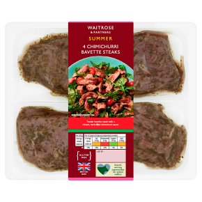 Waitrose 4 Chimichurri Bavette Steaks