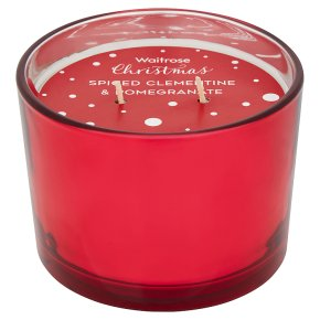 Waitrose Clementine Double Wick Candle