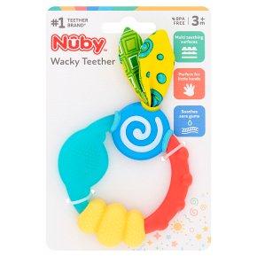 Nuby 3month wacky teething ring