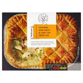 Waitrose 1 chicken, ham hock & leek pie