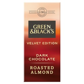 Green & Black's Velvet Edition Roasted Almond dark chocolate bar