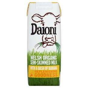Daioni Welsh Semi-Skimmed Milk with Banana