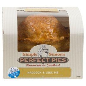 Simple Simon's Smoked Haddock Leek & Wine Pie