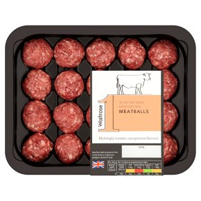 Waitrose 1 Hereford 30 day dry aged beef hand-rolled meatballs