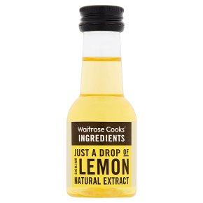 Waitrose Cooks' Homebaking lemon extract
