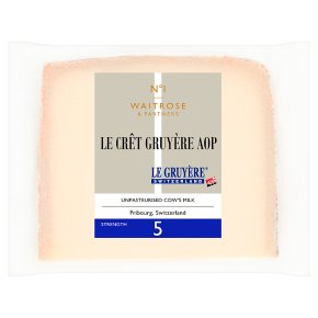 Waitrose 1 Le Cret Gruyere Strength 6