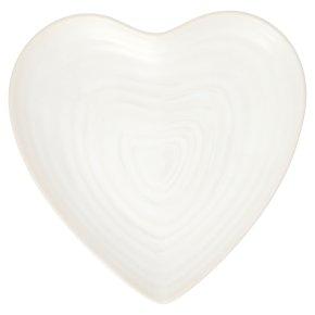 Waitrose Artisan heart plate