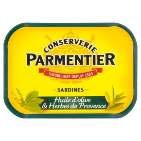 Hyacinthe Parmentier sardines in olive oil with herbs de Provence