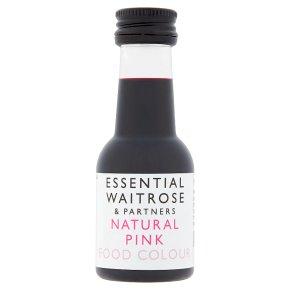 essential Waitrose Pink Food Colour
