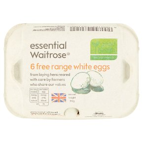 essential Waitrose Free Range White Eggs