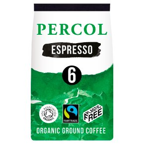 Percol Fairtrade Espresso Ground Coffee