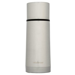 Waitrose 500ml silver vacuum flask