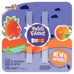 Petits Filous Big Pots Strawberry & Apricot Fromage Frais
