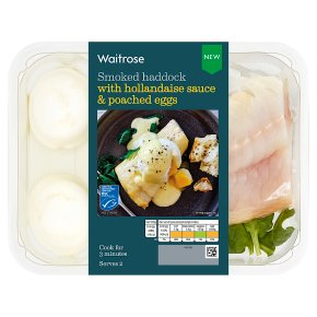 Waitrose Smoked Haddock with Hollandaise Sauce and Poached Eggs