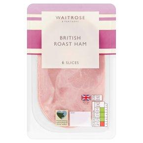 Waitrose British ham, 6 slices
