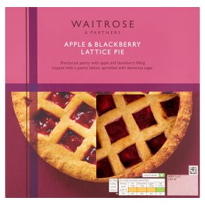 Waitrose Apple & Blackberry Lattice Pie