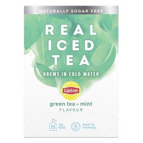 Lipton Real Iced Tea Green Tea, Mint 15s