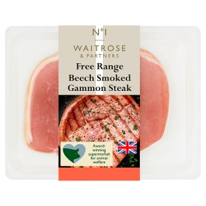 Waitrose 1 free range air dried beech smoked gammon steak