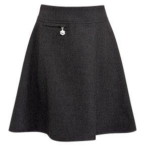 Girls A-line skirt, grey, 7 years