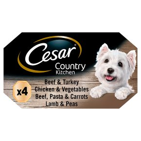 CESAR Country Kitchen Dog Trays Special Selection 4 x 150g