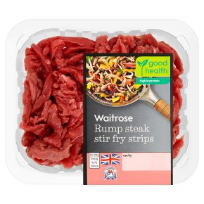 Waitrose beef rump stir fry steak