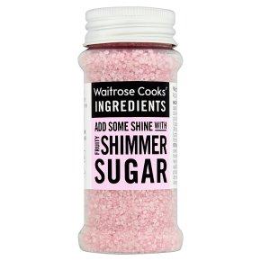 Waitrose Cooks' Homebaking pink shimmer sugar