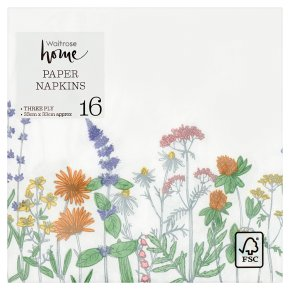 Waitrose Home Meadow Napkins 33cm x 33cm