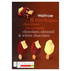 Waitrose 8 mini Belgian chocolate ice creams