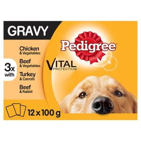 PEDIGREE Dog Pouches Mixed Selection in Gravy 12 x 100g