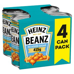 Heinz Baked Beans No Added Sugar 4 pack