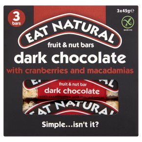 Eat Natural bars with cranberries and macadamias