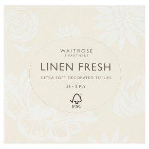 Waitrose Linen Fresh Extra Soft Tissues