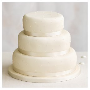 Undecorated 3 tier Ivory Chocolate Sponge (all tiers)