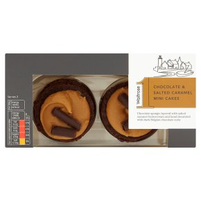 Waitrose 1 chocolate & salted caramel mini cakes