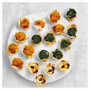 48 Vegetarian Filo Tartlets