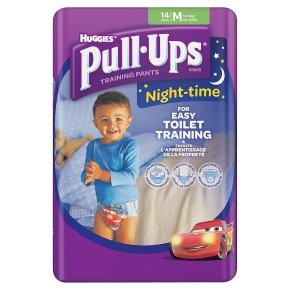 Huggies Pull Ups Nightime Potty Training Pants, Boy, Medium 11-18kg