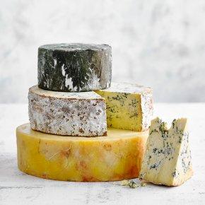 Annabelle Three Tier British Cheese Wedding Cake