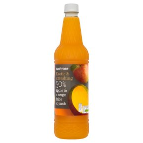Waitrose 50% apple & mango juice squash
