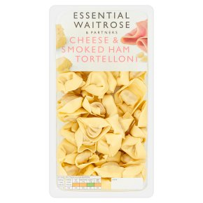 essential Waitrose fresh pasta cheese & smoked ham tortelloni