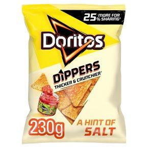Doritos lightly salted sharing tortilla crisps