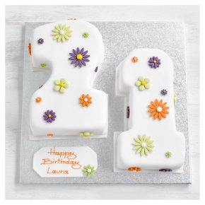 21st Birthday flowers cake